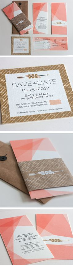 Wedding Invitations - Emily & Andy by Joseph DeFerrari, via Behance