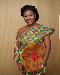 Kente Styles Mixed With Lace Attires For African. kente styles with lace fabrics have always created African Fashion Designers, African Inspired Fashion, African Print Fashion, Africa Fashion, African Fashion Dresses, African Prints, Ankara Fashion, African Wear, African Women
