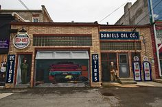 Series of murals on buildings in downtown Pontiac, Illinois, depict life as it was during the heydays of Route 66