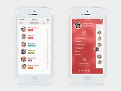 Contact list menu iOS7
