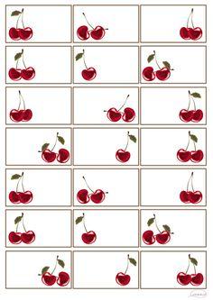 nyomtatható cseresznyés címke