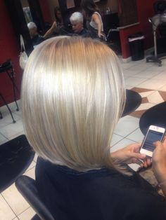 Platinum highlighted blonde