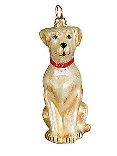 Joy To The World Labrador Retriever Christmas Ornament