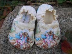 Baby ShoesBeatrix PotterMrs Tiggy Winkle by MeemsSeams on Etsy, $25.00