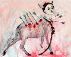 Penny Siopis Slings and arrows 2007 oil and glue on canvas 20 x Art Works, African History, Art Syllabus, Art Painting, Painting, South African Art, Postmodern Art, Figurative Art, South African Artists