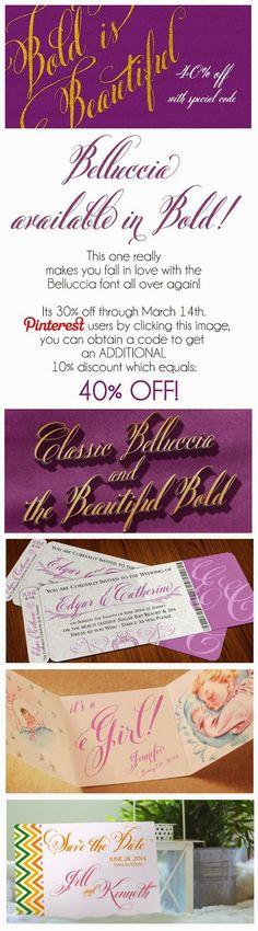 #Belluccia and #BellucciaBold Font: 40% OFF Special Offer