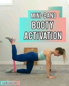 At home Glute Activation Exercises to grow the Booty Fast! Try circuit with only 1 Mini-Band! Effective at home workout with resistance bands! At home Glute Activation Exercises to grow the B Hiit Workout Program, Home Exercise Program, Butt Workout, Workout Routines, Workout Fitness, Health Fitness, Home Workout Videos, At Home Workout Plan, At Home Workouts