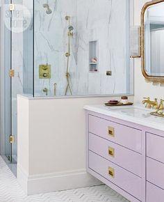 Prettiest pastel bathroom vanity