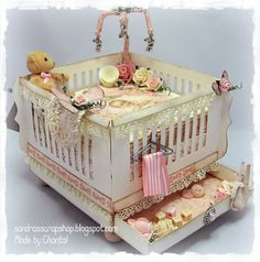 A Baby Crib template! Available at www.sandrasscrapshop.blogspot.com Made by Chantal