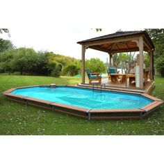 The price a swimming pool semi-buried.rious rates and costs - guide- Piscine Diy, Above Ground Pool, In Ground Pools, Plunge Pool, Bury, Pool Designs, Pergola, Backyard, Home Decor