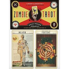This kitschy deck features 78 ghoulish cards with all-American zombies in the illustrations. Fun and fantastical, the artwork is surprisingly good for such a gory subject.