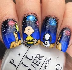 Peanuts of July Nails Xmas Nails, New Year's Nails, Holiday Nails, Christmas Nails, Hair And Nails, Christmas 2017, Cute Nail Art, Cute Nails, Pretty Nails