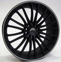19 ZCW SNOOP MATT BLACK POL LIP alloy wheels for 5 studs wheel fitment in 8.5x19 rim size