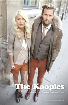 The Kooples, Indonesian model Fahrani Empel and her boyfriend.