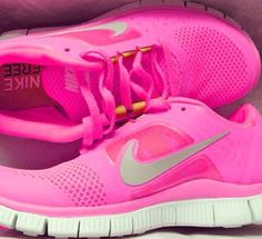 """You have to earn these. Pink Nike's """"NIKE FREE RUN 3 HOT PUNCH """""""