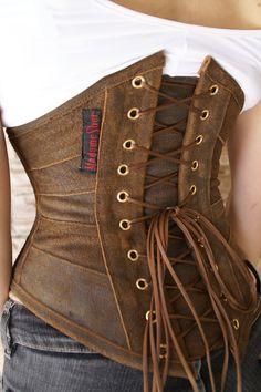 Diy Corset, Corset Belt, Leather Corset, Steampunk Corset, Steampunk Clothing, Cinto Corset, Moda Crochet, Corset Costumes, Fairytale Fashion