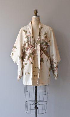 Akiha haori vintage japanese silk haori floral by DearGolden