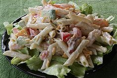 Shrimp salad with penne pasta      great receipe.  I substituted spinch for iceburg.....