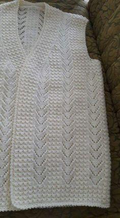 Bendim Ormeki Is Crochet Vest Pattern, Easy Knitting Patterns, Knitting Stitches, Knitting Designs, Baby Knitting, Knit Fashion, Crochet Clothes, Erdem, Image