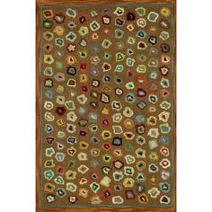 Love this rug! Great for the family room... Dash and Albert Rugs Hooked Cats Paw Brown Micro Rug