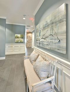 Paint Color Forecast Wall color is Sea Pines from Benjamin Moore. 2016 paint color forecasts and trends. Image via Heather Scott.Wall color is Sea Pines from Benjamin Moore. 2016 paint color forecasts and trends. Image via Heather Scott. Neutral Paint Colors, Interior Paint Colors, Interior Design, Beige Paint, Entryway Paint Colors, Office Wall Colors, Interior Painting, Paint Colors Laundry Room, Paint Colors For Hallway