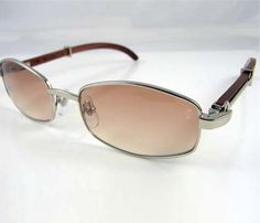 a05555841b6 Cartier Wooden Sunglasses 2902518 In Silver with Brown lens