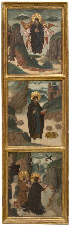 Juan de la Abadía, Escenas de la vida de San Antonio Abad, Hacia 1490   Museo del Prado