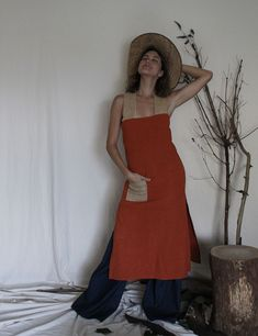 Cora Dress Handmade Clothes, Trousers, Skirts, Red, Cotton, House, Shopping, Beautiful, Dresses