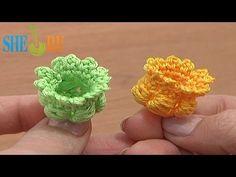 Цветы вязаные крючком Урок 68 часть 1 из 3 Вязание