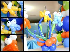 Balloons at an Under the Sea Octonauts party #octonauts #party