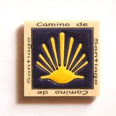 Spanish Door - Camino de Santiago Pilgrim Tile Way Of St. James Fridge magnet (3 of 5), $6.95 (http://www.spanishdoor.com/camino-de-santiago-pilgrim-tile-way-of-st-james-fridge-magnet-3-of-5/) #CaminoDeSantiagoSouvenir #WayOfStJamesScallopShell