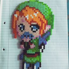 #TLoZ Link perler beads by mattyperler