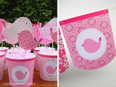 inesita • #pajaritos a #volar Baby Table, Party Fiesta, Bird Party, Baby Shawer, Bird Theme, Ideas Para Fiestas, Scrapbook, Shower Gifts, Baby Boy Shower