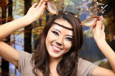 From Head To Toe: Deer Makeup Tutorial | Halloween 2013