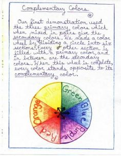 color wheel is the most important tool in painting Middle School Literacy, Education Middle School, Education And Literacy, Waldorf Education, Physical Education, Eighth Grade, Seventh Grade, Waldorf Math, 6th Grade Reading