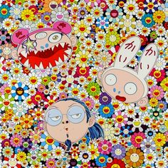 Takashi Murakami, Kaikai Kiki and Me - The Shocking Truth Revealed, 2010 Offset lithograph in colours with cold stamp and UV coat on smooth wove paper Edition of 300 68 x 68 cm Takashi Murakami, Murakami Flower, Pop Art, Tokyo Museum, Superflat, Gagosian Gallery, Contemporary Artwork, Modern Art, Commercial Art