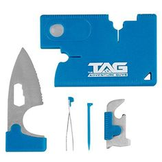TAG Credit Card Tool MultiTool Knife - Amazing 10 in 1 Wallet Tool with Stainless Steel Survival Knife, Compass, Screwdriver and More! Great Multi Tool Pocket Knife for Home, Office or Outdoors!. For product & price info go to:  https://all4hiking.com/products/tag-credit-card-tool-multitool-knife-amazing-10-in-1-wallet-tool-with-stainless-steel-survival-knife-compass-screwdriver-and-more-great-multi-tool-pocket-knife-for-home-office-or-outdoors/