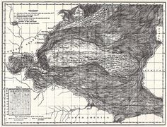 Chart of the Gulf Stream and North Atlantic surface from Physical Geography of the Sea, by Matthew Fontaine Maury, 1855.