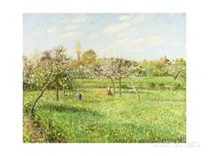 Morning, Spring, Grey Weather, Eragny Posters by Camille Pissarro at AllPosters.com