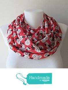 Coral Red Infinity Scarf, Floral Pattern Chiffon Infinity Scarf, Circle Scarf, Women Loop Scarf, Fall Winter Spring Summer Fashion, For Her from NaryaBoutique https://www.amazon.com/dp/B01HSJT010/ref=hnd_sw_r_pi_dp_T-PKxb4FWAKH4 #handmadeatamazon