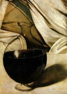 """""""Bacchus"""" 1596-97 by Michelangelo Merisi da Caravaggio"""