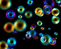 lridient Bursting Soap Bubbles