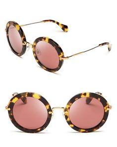 Miu Miu Noir Round Sunglasses Oculos De Sol, Sapatos, Óculos De Sol  Redondos, 8891a58d55