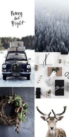 Scandinavian christmas inspiration with wrapping ideas, wreath inspiration and with monochrome natural colours for a calm minimalist christmas Christmas Mood, Noel Christmas, Scandinavian Christmas, Christmas Wreaths, Christmas Countdown, Merry And Bright, Xmas Decorations, Christmas Inspiration, Hygge