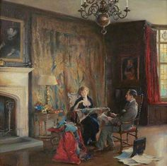 Lord and Lady Lee of Fareham in the Great Hall at Chequers - Philip Alexius de Laszlo (1920)