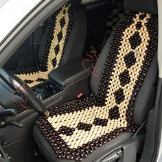wooden beads car seat cover | Beaded Car Seat Cover | Pinterest ...