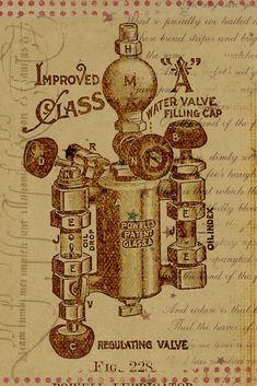 Steampunk-Erfindung von Rosalind #steampunk #london #erfinder #character #inventor #machine Steampunk, Water Valves, Fantasy, London, Vintage World Maps, Stripes, Red, Character, Inventors