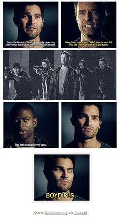 Don't bring claws to a gun-fight. Best Tv Shows, Best Shows Ever, Favorite Tv Shows, Movies And Tv Shows, Teen Wolf Funny, Teen Wolf Memes, Teen Wolf Stiles, Teen Wolf Cast, Teen Wolf Season 5
