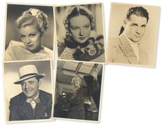 Love, Shirley Temple, Collector's Book: Lot # 479: Five Autographed Photographs of Shirley Temple Co-Stars with Inscribed Messages to Her