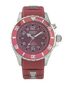 Kyboe! Dusty Cedar Water-Resistant Watch Women's Red